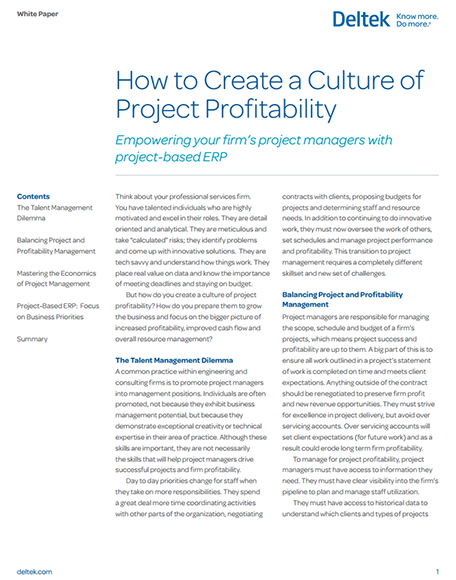How to Create a Culture of Project Profitability screenshot